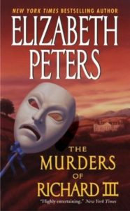The Murders of Richard III cover features a theatrical tragedy mask.