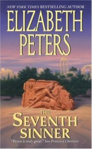 The Seventh Sinner cover shows an uncovered carving of a figure attacking a bull.