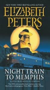 The cover of Night Train to Memphis centers an Egyptian sphinx in a Stetson hat. A train passes through the foreground.